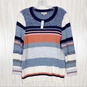 Loft | NWT Multi-Color Sparkle Stripe Sweater